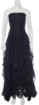 Donna Karan Silk Ruched Gown