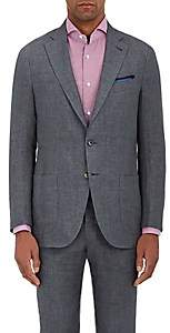 Isaia Men's Linen Two-Button Sportcoat - Gray