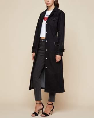 Juicy Couture Denim & Velvet Trench Coat