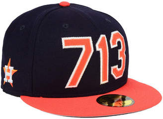New Era Houston Astros Area Code 59FIFTY Fitted Cap