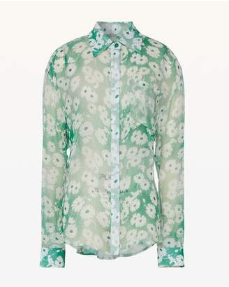 Juicy Couture Washed Daisy Button Front Blouse