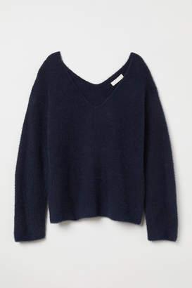 H&M V-neck Sweater - Blue