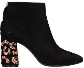 Lola Cruz Black Suede Ankle Boot