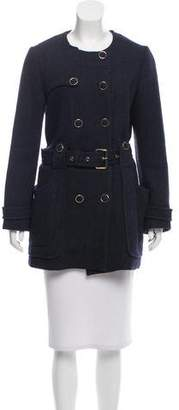 Tory Burch Double-Breasted Wool Coat