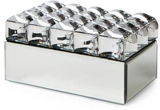 Jay Import Beaded Mirror Jewelry Box