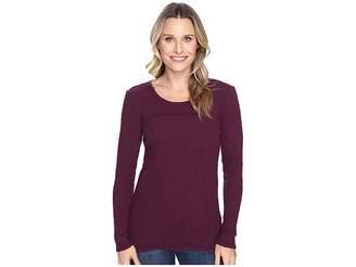 Mod-o-doc Vintage Slub Thermal Back Vent Long Sleeve Tee Women's T Shirt