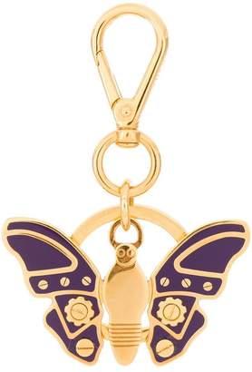 Prada butterfly keyring