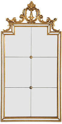 "Six-Panel 22""x44"" Wall Mirror - Gold - Bradburn Home"