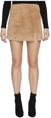 Blank NYC Real Suede Mini Skirt in Desert Sand Women's Skirt