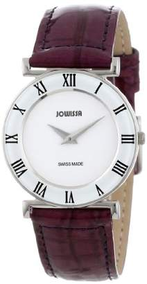 Jowissa Women's J2.012.M Roma Colori 30 mm Purple Leather Roman Numeral Watch