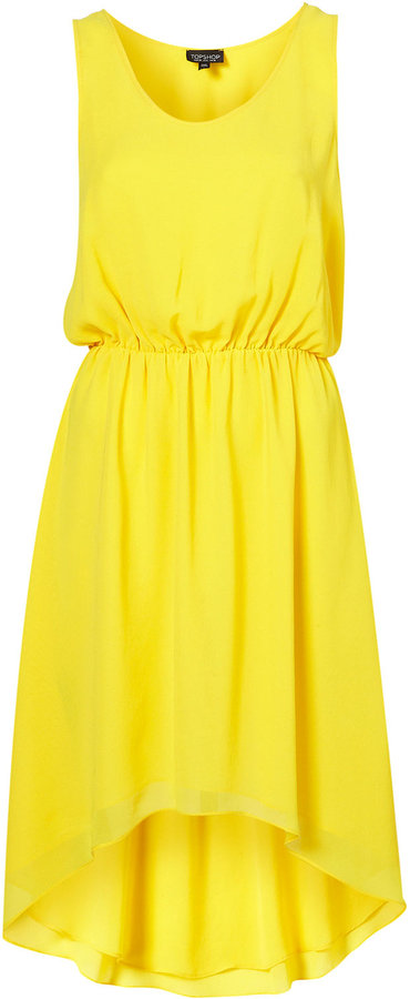 Chiffon Dip Hem Dress