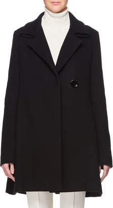 The Row Ralty Single-Breasted Wool-Blend Pea Coat