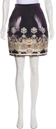 Mary Katrantzou Silk Digital Print Skirt