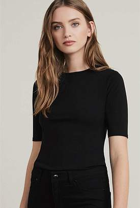 Witchery Elbow Sleeve Crew Top