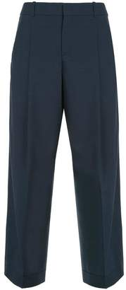 Jil Sander Navy cropped tapered trousers