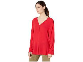 Bobeau V-Front Roll Tab Women's T Shirt