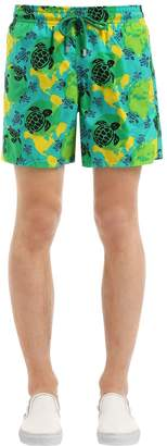 Vilebrequin Moorea Turtle & Globe Print Swim Shorts