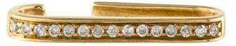 Anissa Kermiche 9K Diamond Noble Staple One Line Ear Cuff