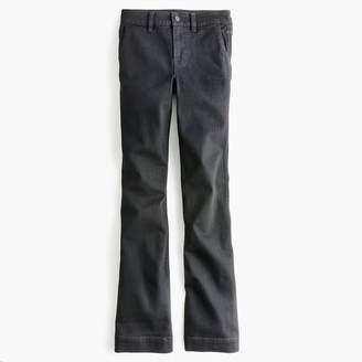 J.Crew Petite wide-leg trouser jean in black
