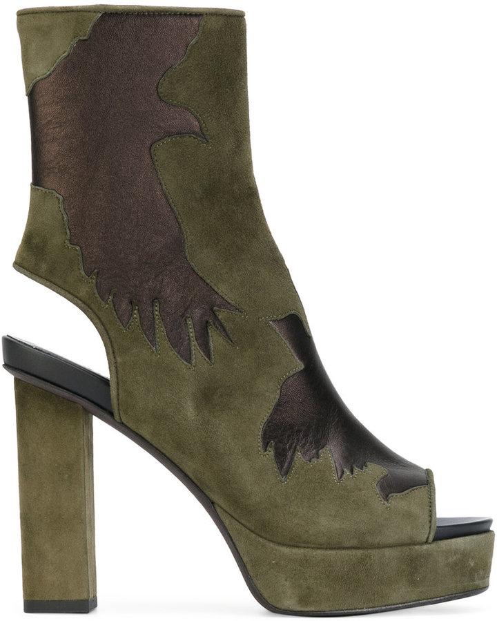 A.F.Vandevorst cut-out detail boots