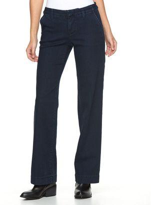 Women's Apt. 9® Modern Fit Wide-Leg Jeans $48 thestylecure.com