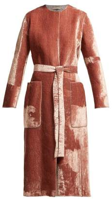 Bottega Veneta Velvet Belted Coat - Womens - Pink