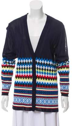 Mary Katrantzou V-Neck Patterned Cardigan Navy V-Neck Patterned Cardigan