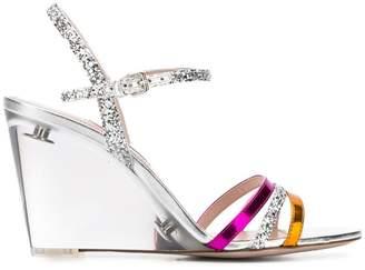 Miu Miu glitter wedge sandals