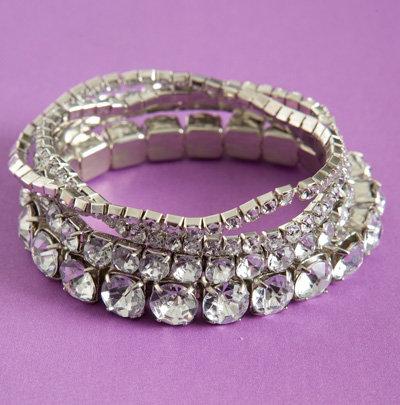 Rhinestone Bracelet Set