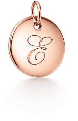 Tiffany & Co. & Co. Charms alphabet charm in 18k rose gold, small Letters A-Z available - Size E
