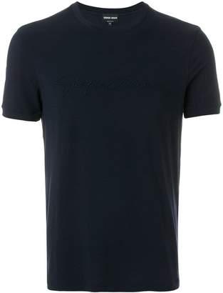 Giorgio Armani logo detail T-shirt