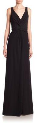 Armani Collezioni Sleeveless V-Neck Gown $1,695 thestylecure.com