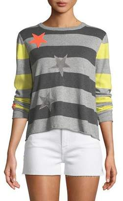 Lucky Star Lisa Todd Striped Cotton/Cashmere Sweater, Petite