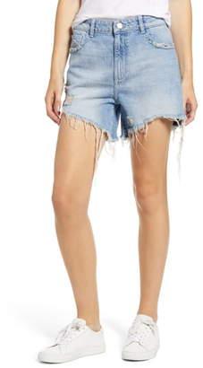 DL1961 Hepburn Ripped High Waist Denim Shorts