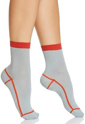 Happy Socks Hysteria Lily Ribbed Ankle Socks