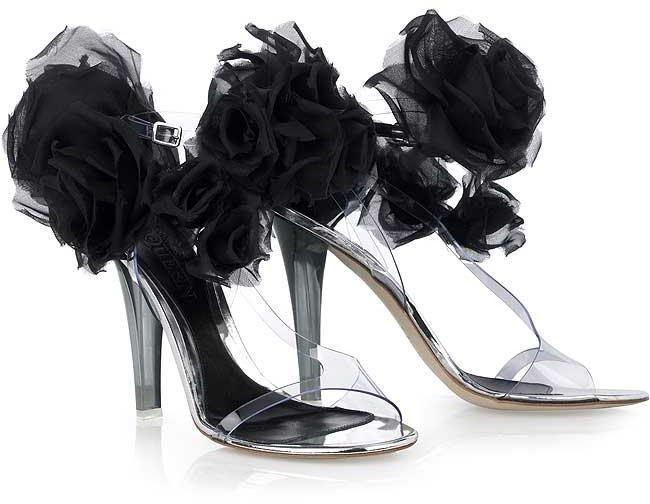 Alexander McQueen Corsage vinyl sandals