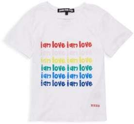 Peace Love World Little Girl's & Girl's Audrey Graphic Tee
