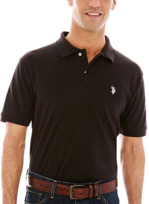 U.S. Polo Assn. USPA Short-Sleeve Solid Interlock Polo