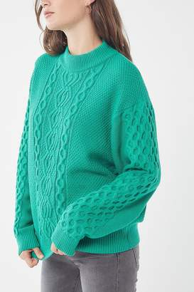 Urban Outfitters Austin Mock-Neck Cable Knit Sweater