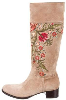 Car Shoe Embroidered Knee Boots w/ Tags