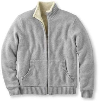 L.L. Bean L.L.Bean Sherpa Fleece-Lined Sweater, Full Zip