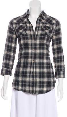 Elizabeth and James Button-Up Flannel Top