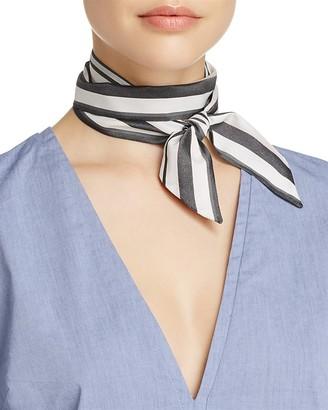 Echo Rows Striped Silk Skinny Scarf $29 thestylecure.com