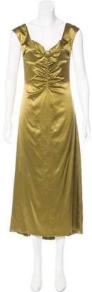 Luisa Beccaria Satin Evening Dress