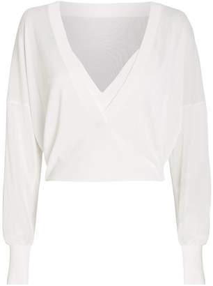 Dion Lee Sheer Knit V-Neck Top