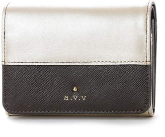 a.v.v (アー ヴェ ヴェ) - アー ヴェ ヴェ a.v.v 中ファスナー二つ折財布 (ベージュ)