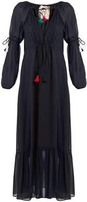 Figue Nicolete V-neck silk-georgette dress