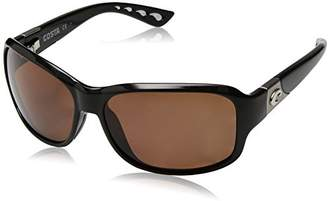 Costa del Mar Women's Inlet Polarized Oval Sunglasses