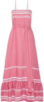 Lisa Marie Fernandez - Rickrack-trimmed Linen Maxi Dress - Pink $995 thestylecure.com
