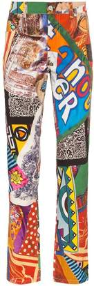 Moschino graphic print trousers